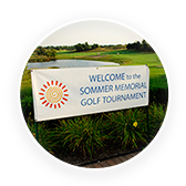 Welcome to the Sommer Memorial Golf Tournament sign